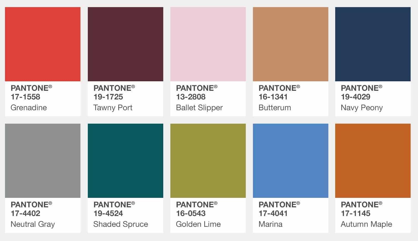 pantone-color-swatches-palette-fashion-color-report-fall-2017-new-york Женская мода осень зима 2017-2018: основные тенденции, фото
